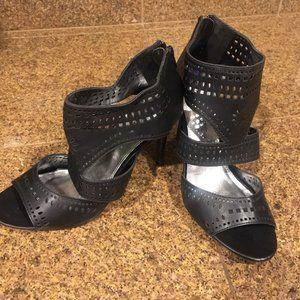 Black Rampage Cut Out heels